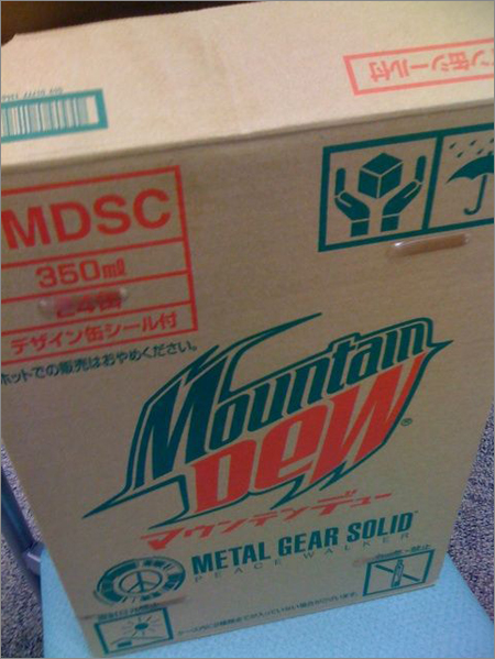 Mountain Dew + Metal Gear = Holy Shit