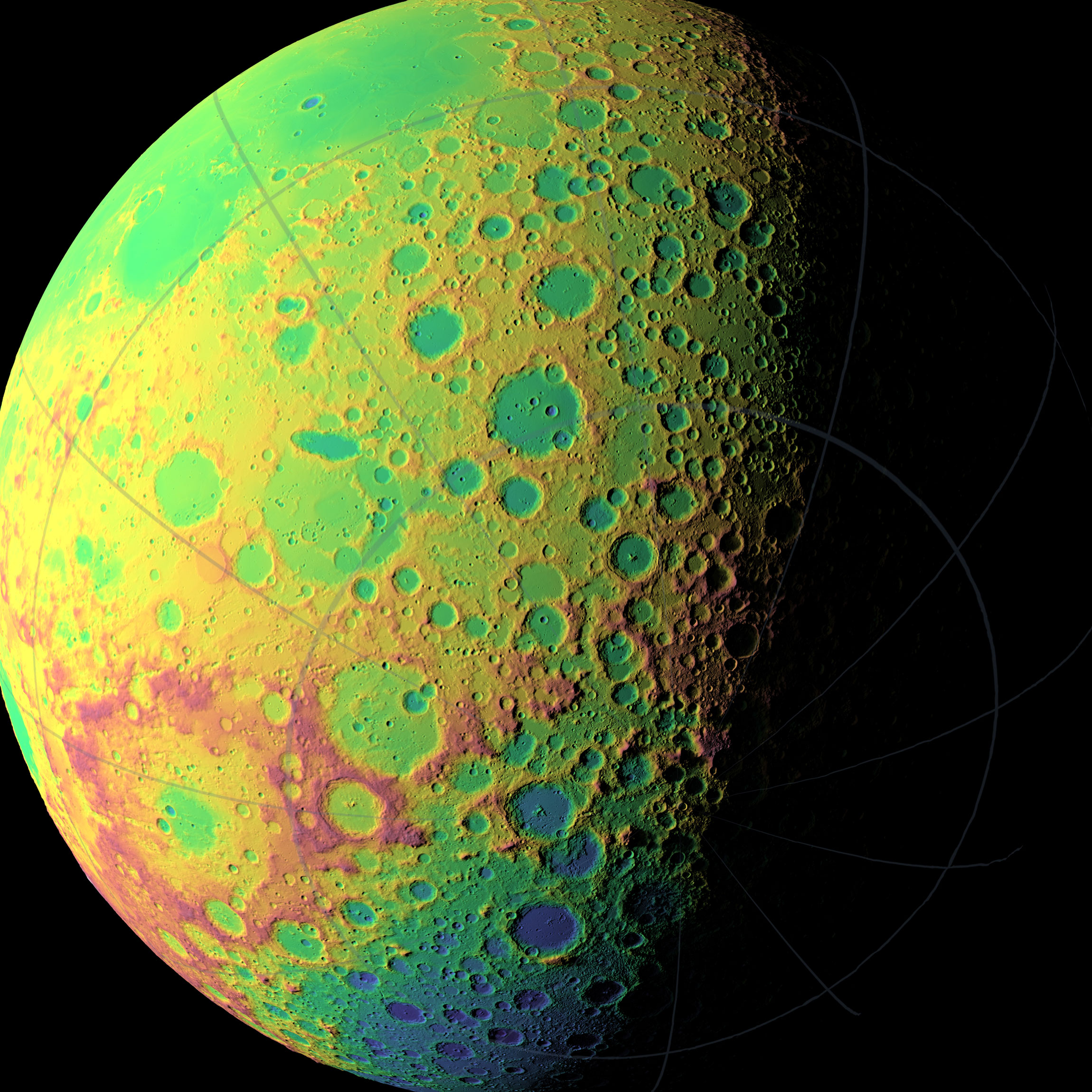 far side of the moon pictures are psychedelic space porn