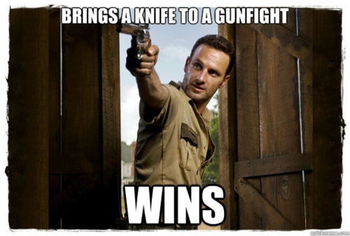 knife gunfight rick