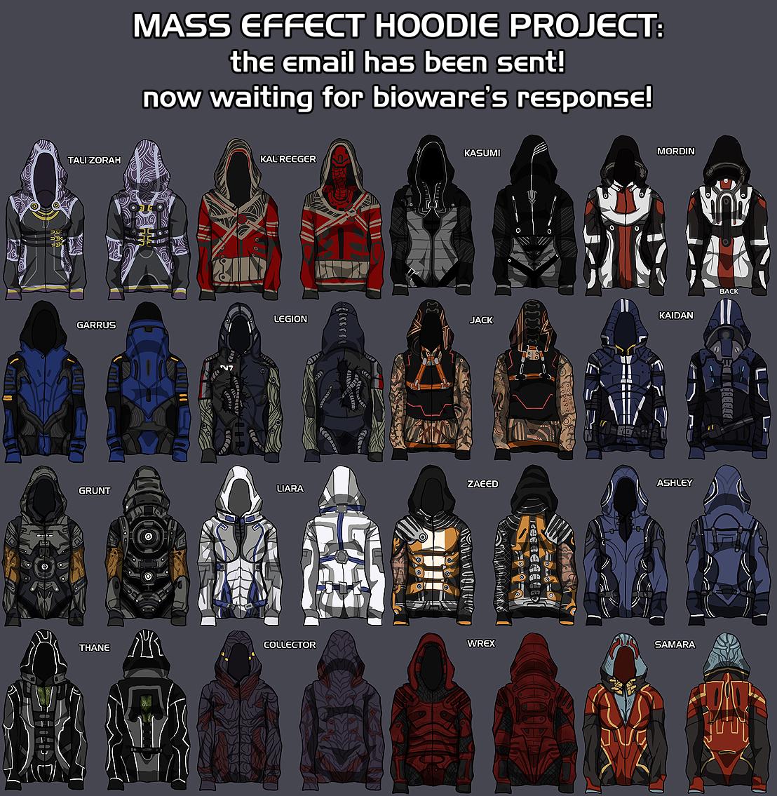 Mass effect hoodies