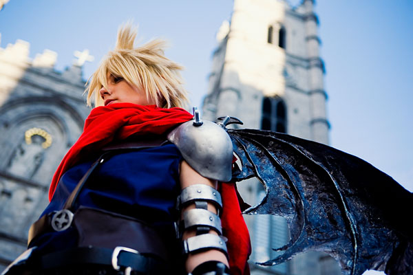 Cloud strife kingdom hearts cosplay
