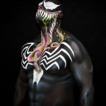 Venom body paint on ONE FUCKING MASSIVE MAN, part two.