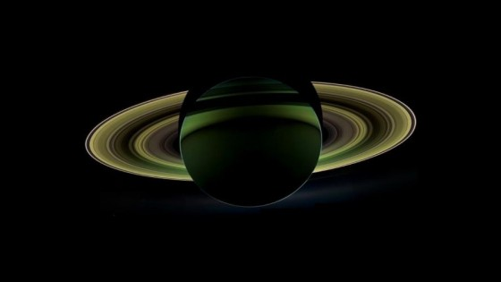 Dark side of Saturn.