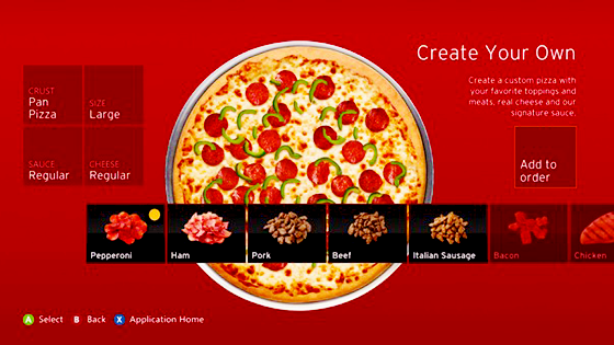 CREATE THE PIZZA.