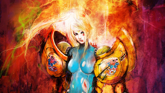 Gnarly Metroid Fan Art Shows Wounded Samus Wounds My Heart