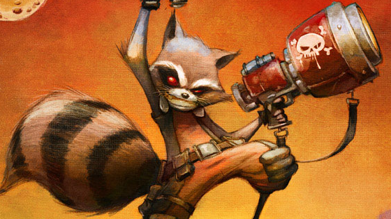 Rocket Raccoon.