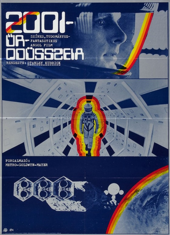 2001- A Space Odyssey. Hungarian poster.
