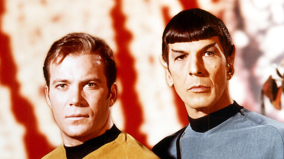 Spock and Kirk.
