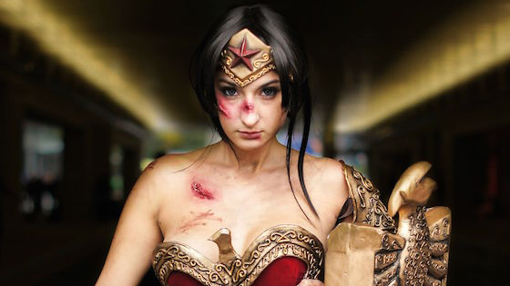 Battle worn Wonder Woman