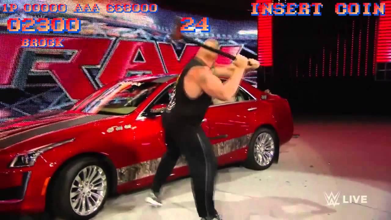 Watch Brock Lesnar X Street Fighter 2 Car Destruction Omega