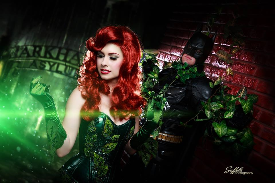 cosplay poison ivy ensnares batman in her oh crappy puns omega