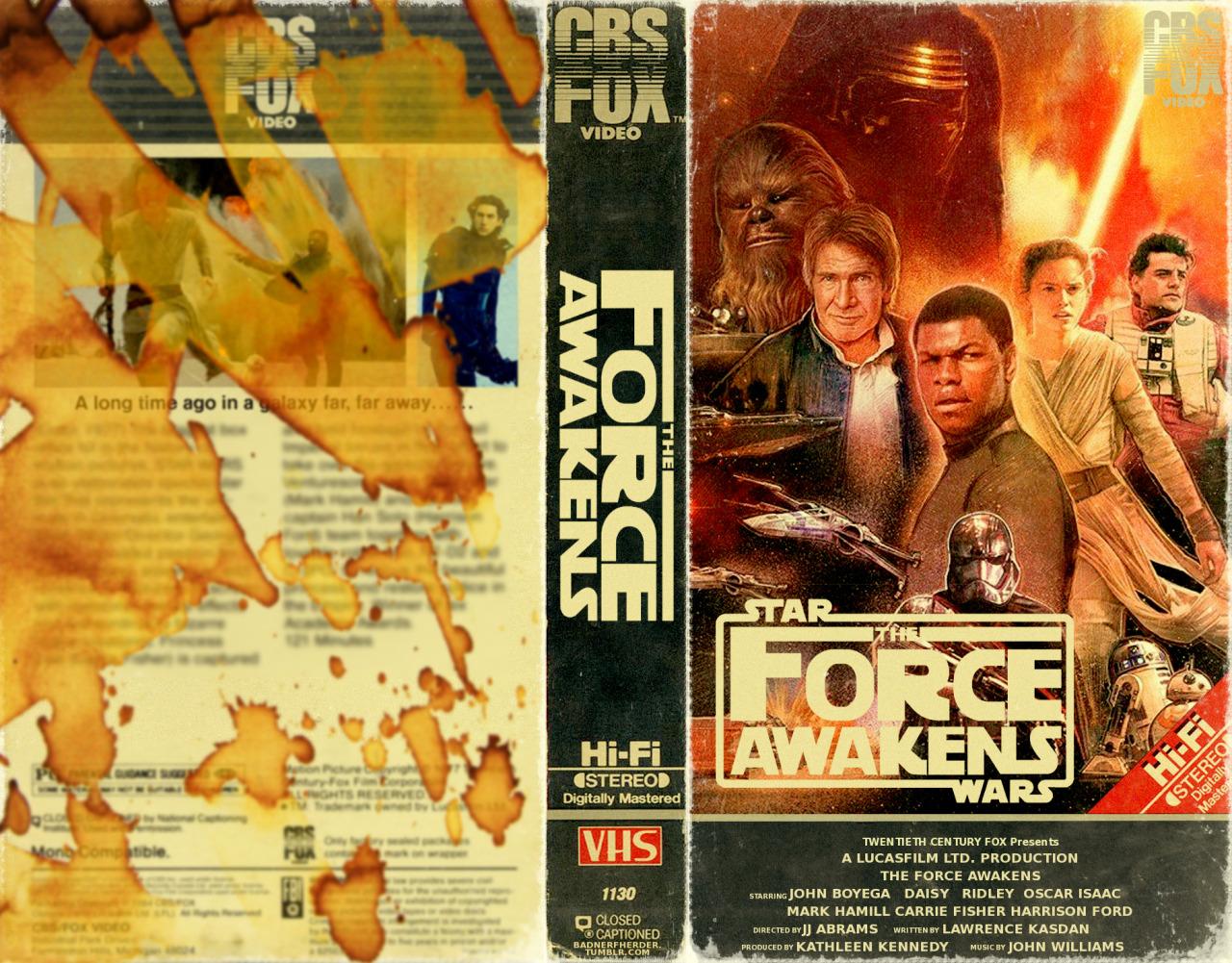 Art The Force Awakens Gets Vhs Box Art Courtesy Of Paul