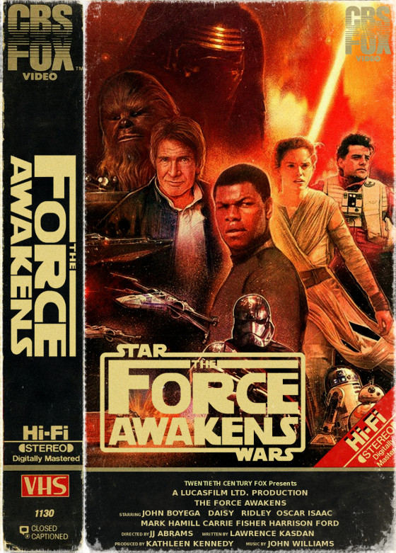 The Force Awakens as VHS.