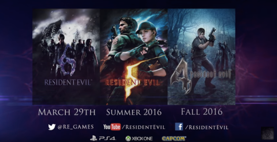 Resident Evil Re-Issues