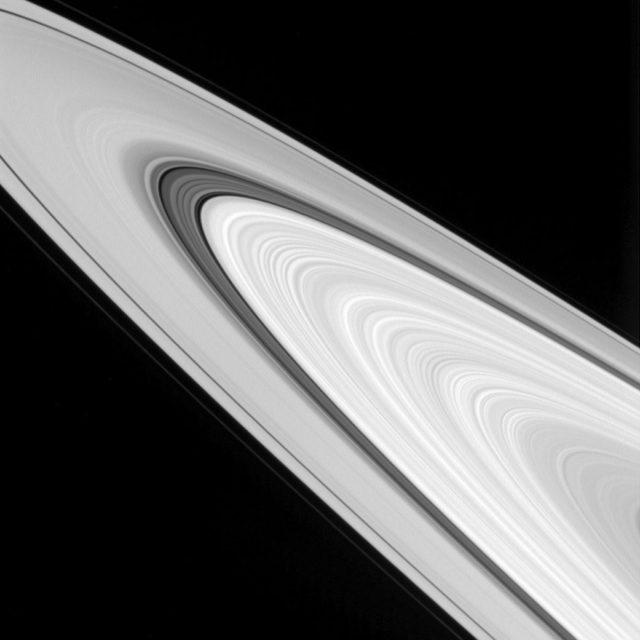 saturn's rings detail cassini