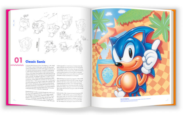 sonic the hedgehog coffee table art book