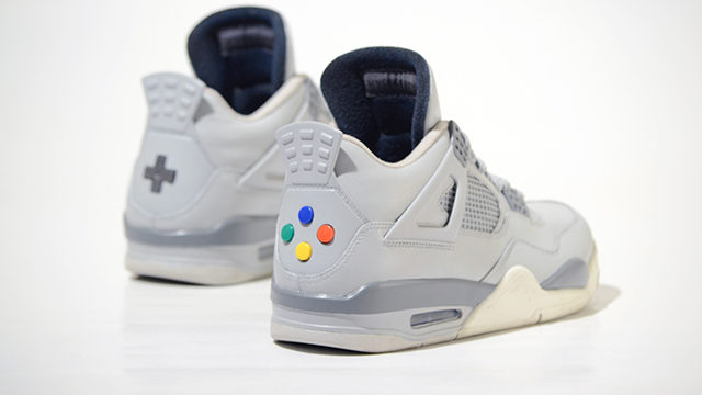 super nintendo sneakers buttons