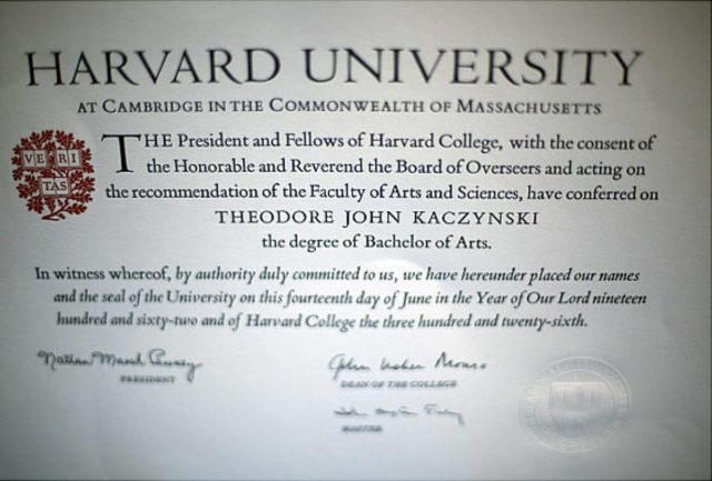 Unabomber Degree