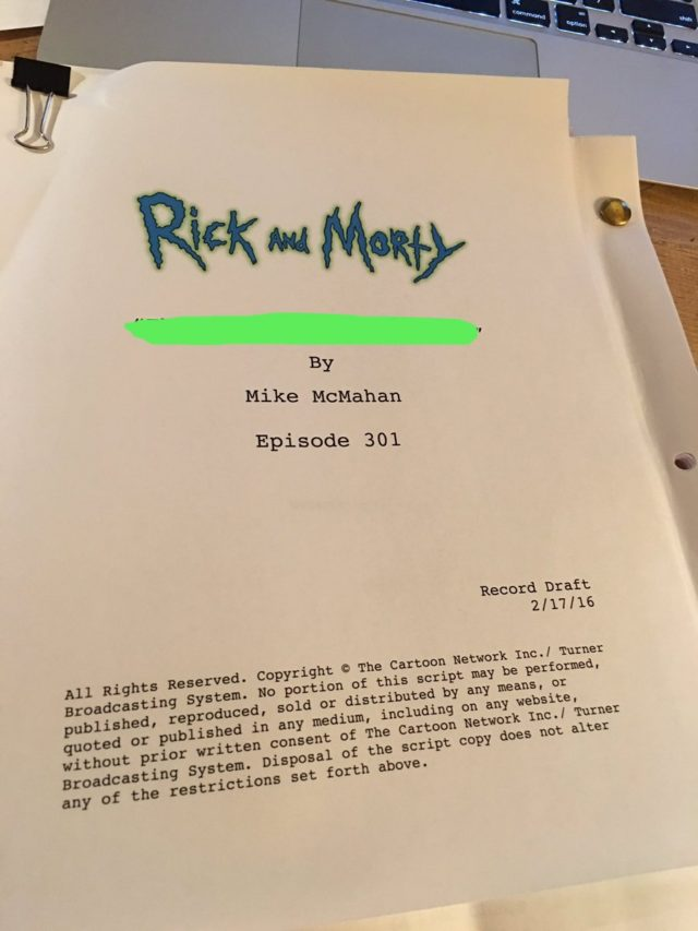 rick and morty season 3 enters production