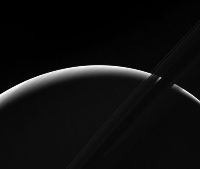 cassini saturn dawn