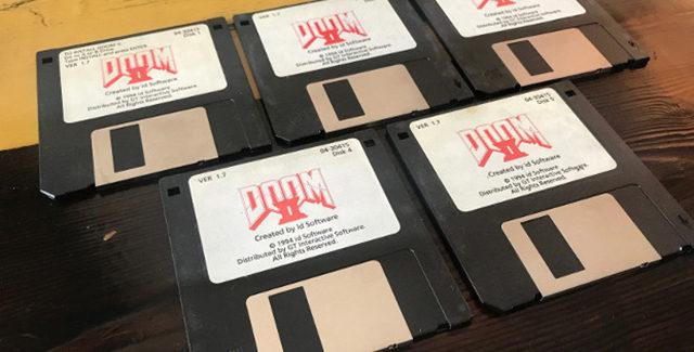 john romero doom 2 floppies