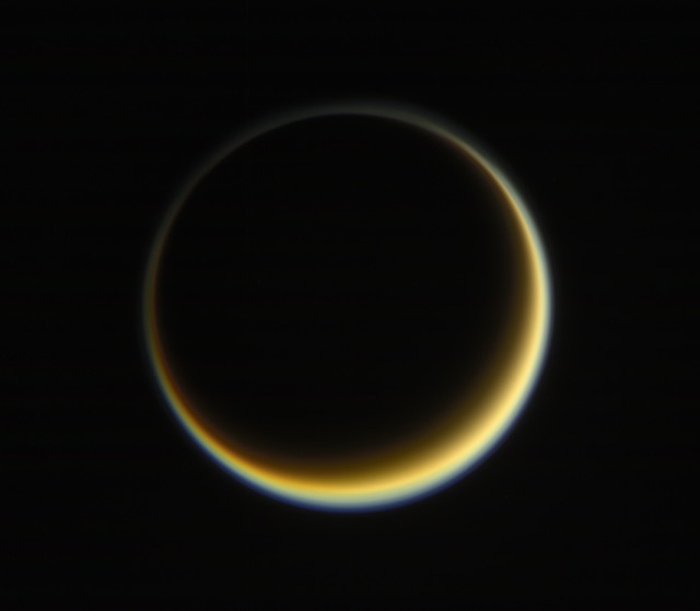 cassini titan haze