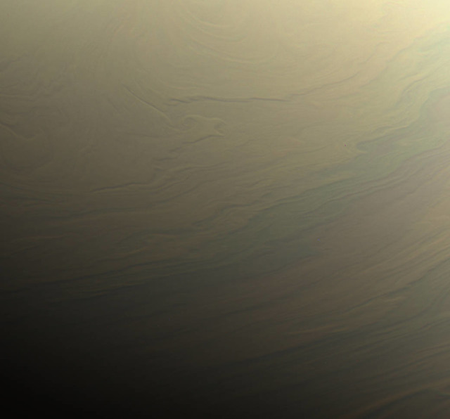 nasa cassini saturn cloud swirls