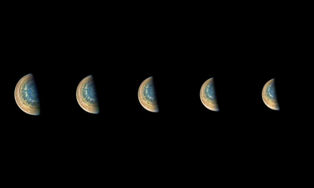 jupiter south pole time lapse