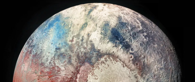pluto colorized photo