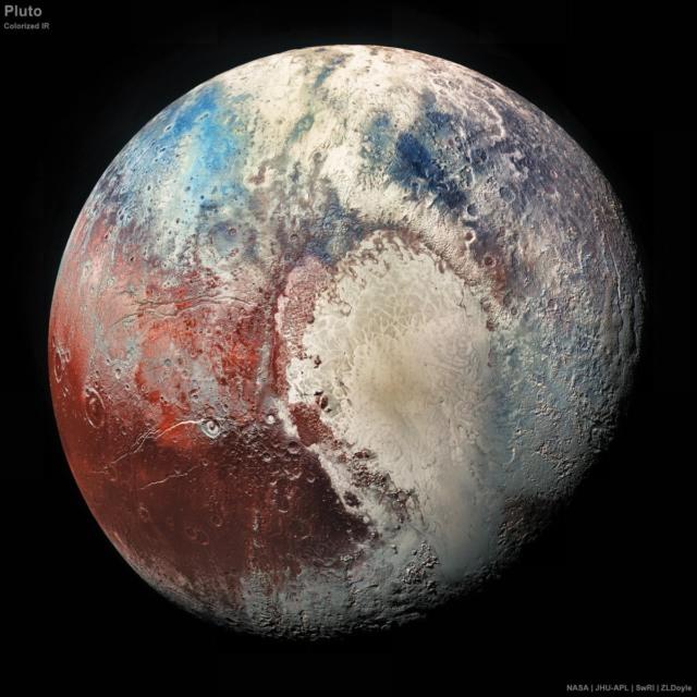 pluto colorized photo