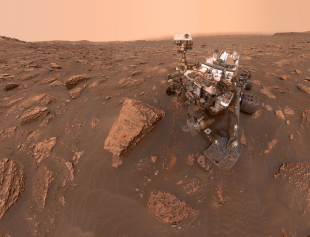 mars curiosity dust storm