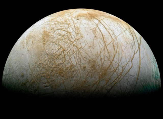 jupiter moon europa frozen spikes