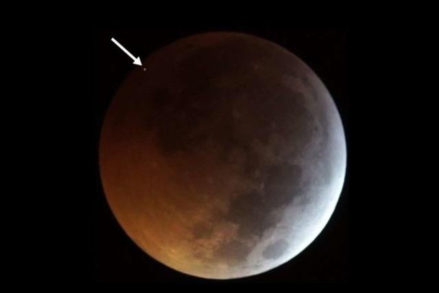 meteorite moon lunar eclipse
