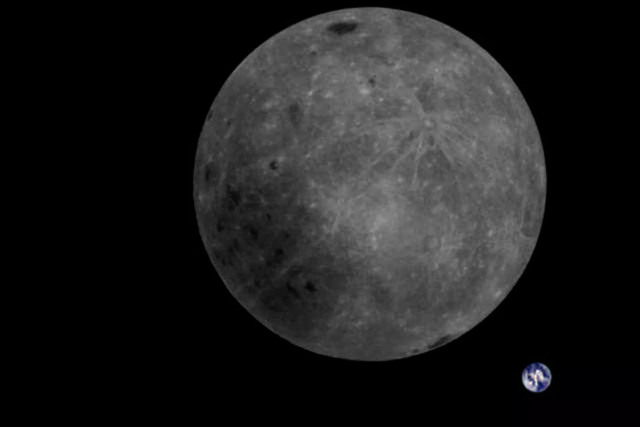 chinese satellite far side moon earth