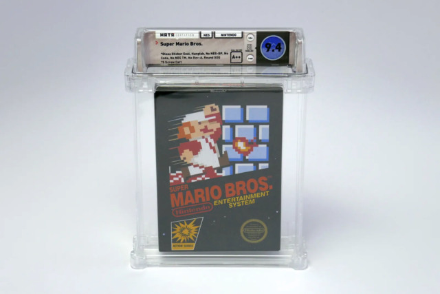sealed copy super mario bros record