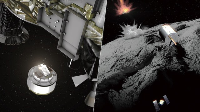 hayabusa spacecraft bomb asteroid