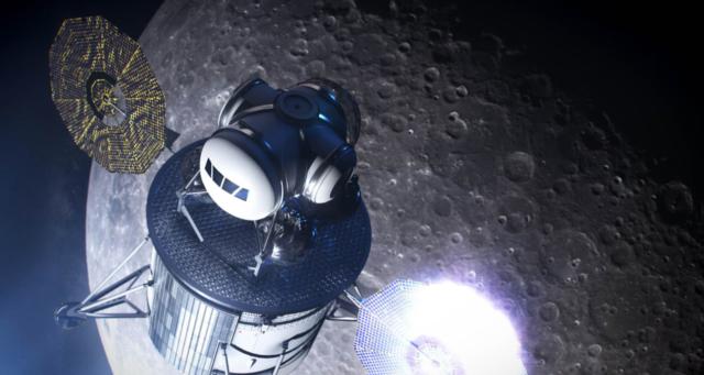 nasa spacex blue origin lander