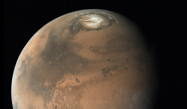 martian north pole water