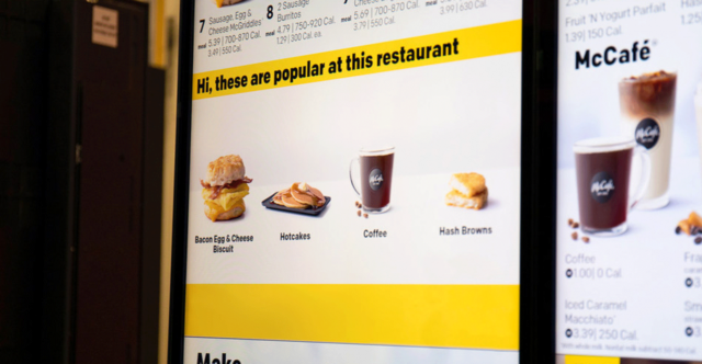 mcdonalds ai powered kiosk