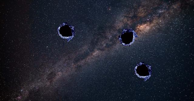 milky way galaxy holes