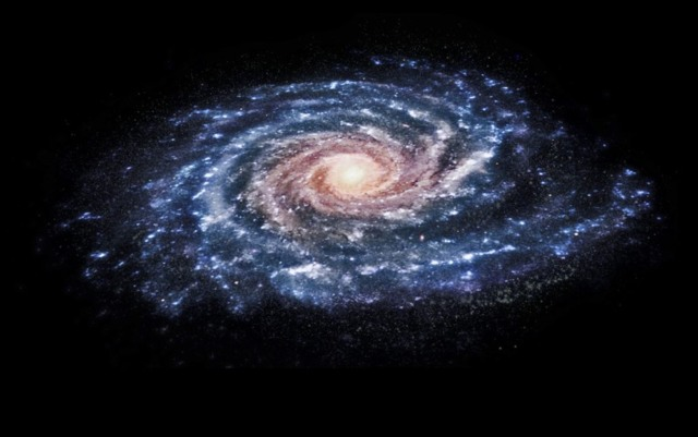 milky way collision ghost galaxy