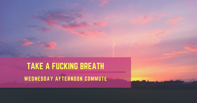monday morning commute take a breath