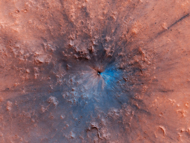 new crater mars