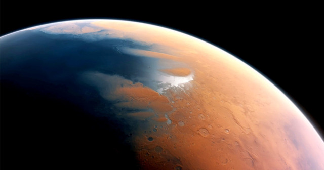 ancient meteor tsunami mars