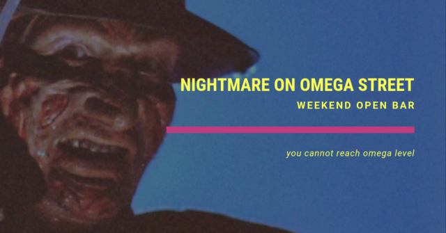 weekend open bar nightmare on omega street