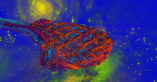 astronauts bioprint beef