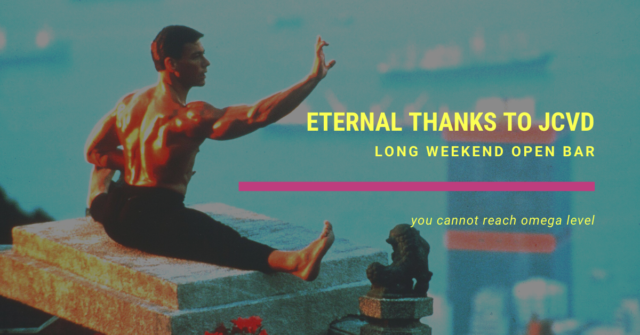 weekend open bar eternal thanks