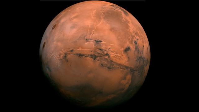 mars lander glow martian night sky