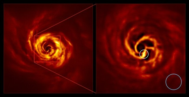 astronomers witness planet birth