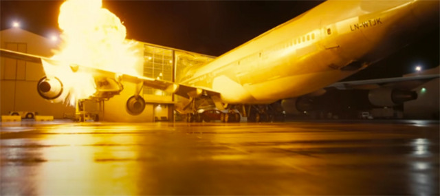christopher nolan crash 747 tenet